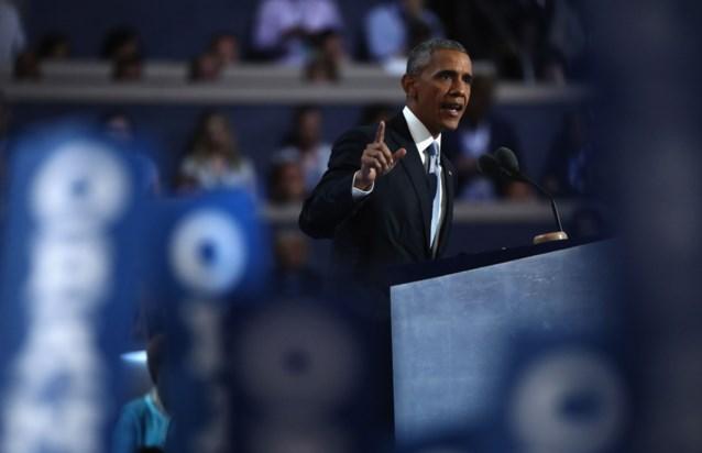 "Obama: ""Nooit was iemand meer bekwaam om president te worden dan Hillary"""