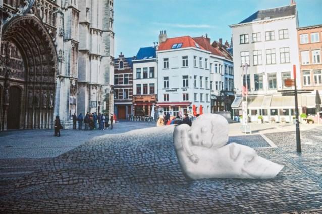 Zo zal het nieuwe standbeeld van Nello en Patrasche op de Handschoenmarkt er uit zien