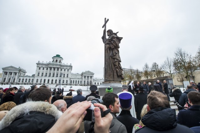 Poetin onthult standbeeld van Vladimir de Grote in Moskou