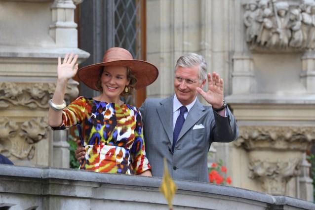 Belgische koning bezoekt Nederland terwijl grens tussen beide landen hertekend wordt.