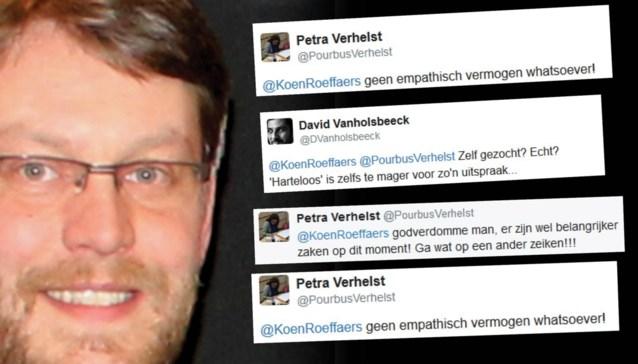 """N-VA-politicus onder vuur na controversiële tweet: """"Harteloos"""" en """"walgelijk"""""""