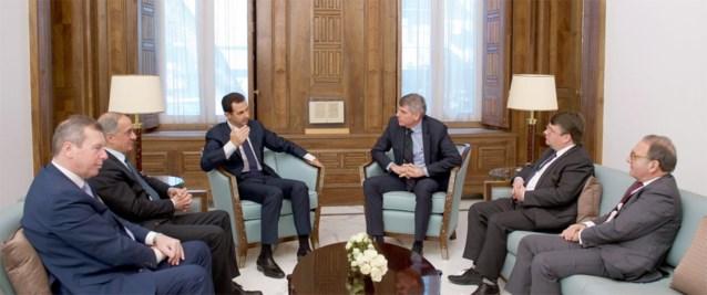 Filip Dewinter op visite bij Syrische president Assad
