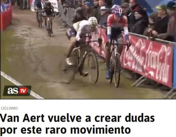 Spaanse krant valt Wout van Aert al voor de tweede keer aan (zonder bewijs)