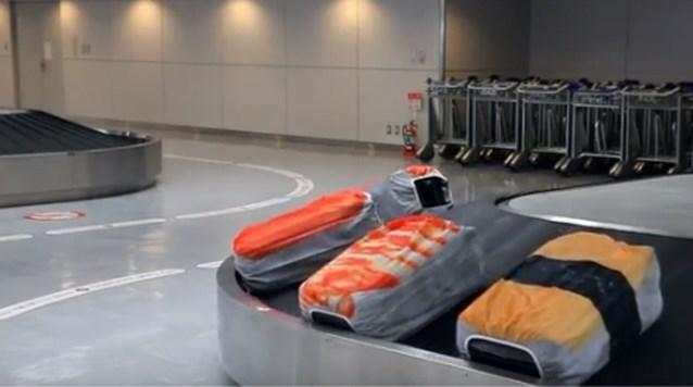 Leg eens sushi op de bagageband