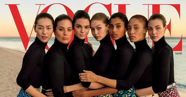 Vogue onder vuur voor foto van Gigi Hadid: Zie jij wat er aan de hand is?