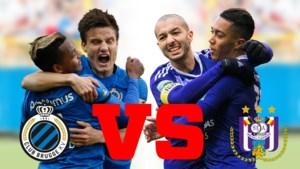 Wie is er nu echt beter? Analisten Johan Boskamp en Franky Van der Elst vergelijken de eeuwig titelconcurrenten Club Brugge en Anderlecht