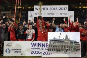 Stad huldigt kampioenenploeg Antwerp op 9 april