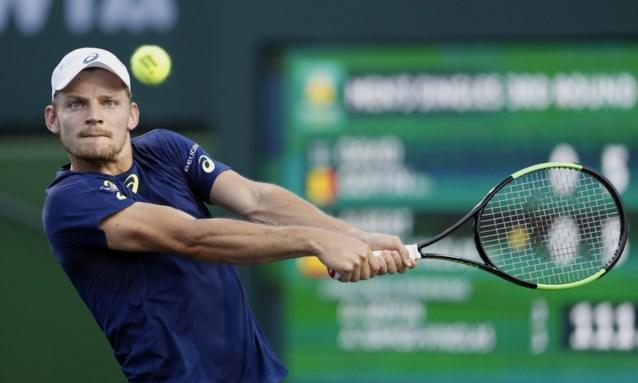 """David Goffin vlot naar achtste finale in Indian Wells: """"Wedstrijd per wedstrijd"""""""