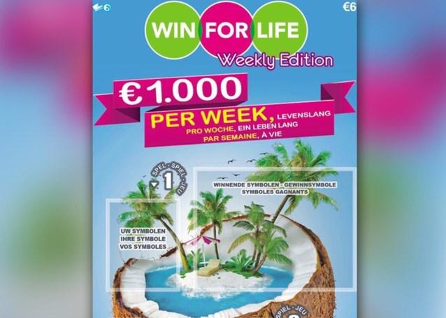 Win for Life heeft er een broertje bij: elke week 1.000 euro op je bankrekening