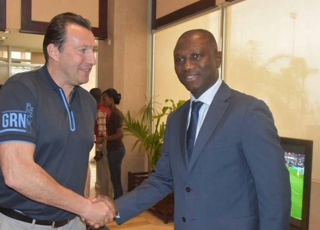 """Wilmots over Ivoorkust: """"Hier is veel werk te doen"""""""