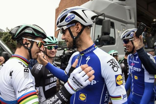 """Sagan neemt afscheid van jeugdidool Boonen: """"Tom was mijn held, maar ik bracht hem wel ten val"""""""
