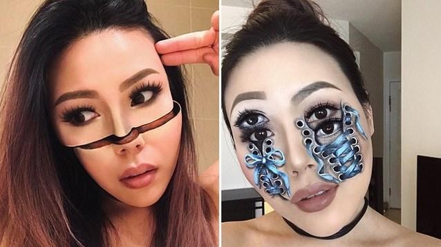 Make-upartieste pakt uit met indrukwekkende optische illusies