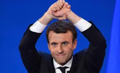 Portret van Macron
