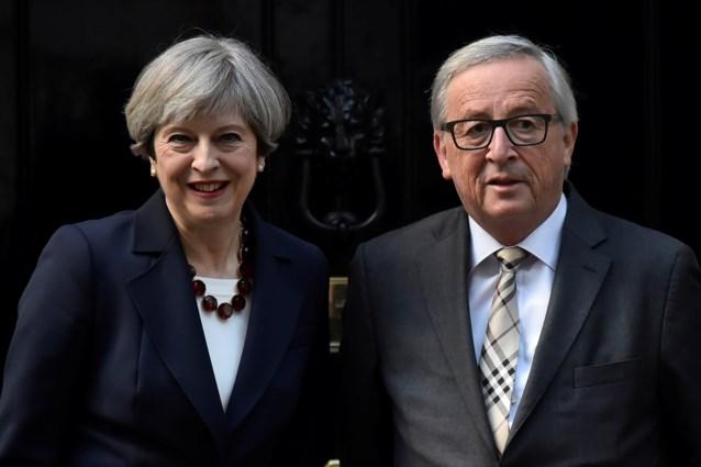 """May had """"constructieve"""" meeting met Juncker"""