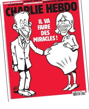 Macrons eerste mirakel (volgens Charlie Hebdo)
