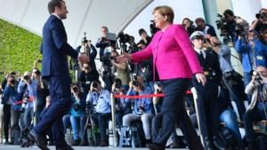 Merkel verwelkomt nieuwe Franse president Macron in Berlijn
