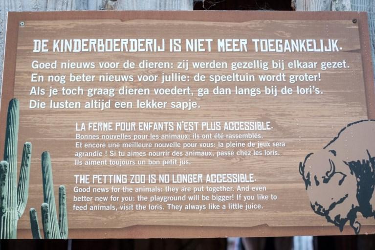 """Planckendael sluit kinderboerderij wegens """"te weinig respect voor de dieren"""""""