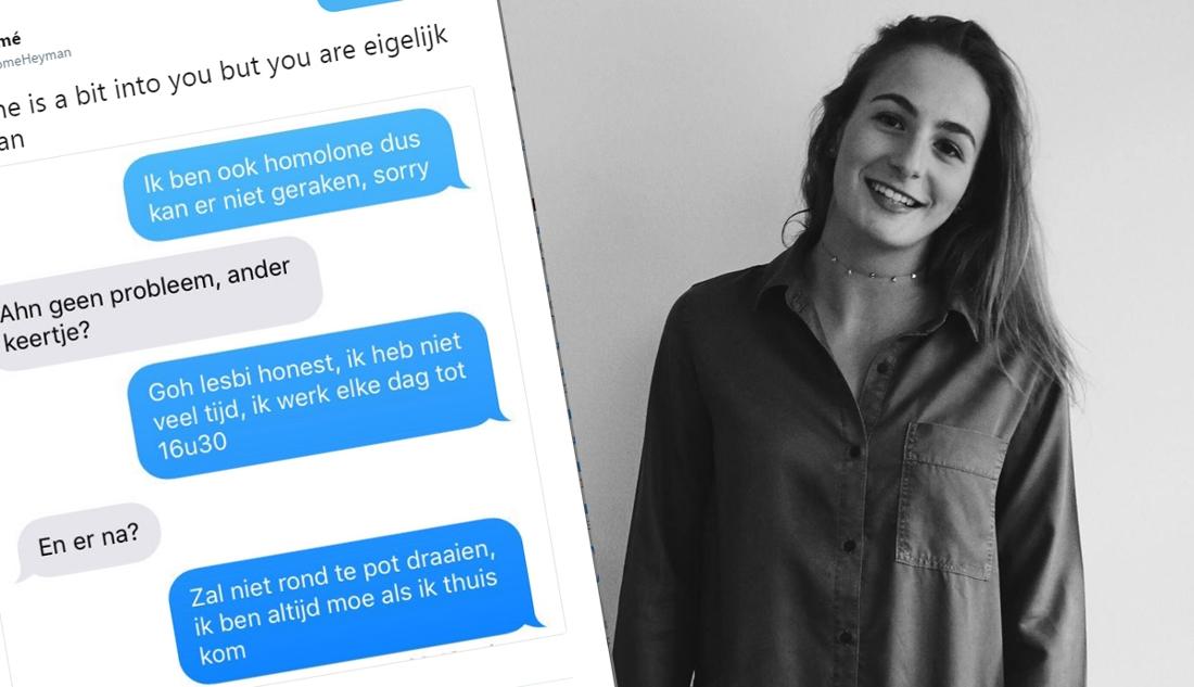Flirten met iemand die je niet kent
