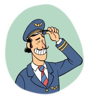 """Een piloot klapt uit de biecht: """"Ja, ik heb mijn vrouw leren kennen op het vliegtuig. Die rokjes..."""""""