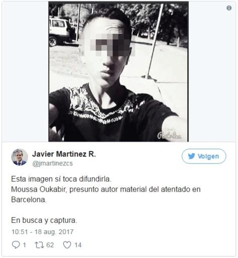 Is deze 17-jarige de dader van de aanslag in Barcelona?