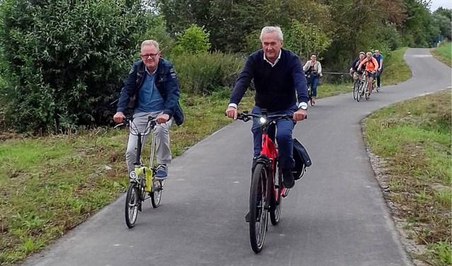 Stukje snelweg met voorrang voor fietsers