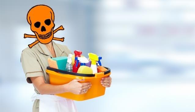 Uw poetsvrouw pleegt een aanslag op haar lichaam: dubbel zo veel risico op fatale longziekte