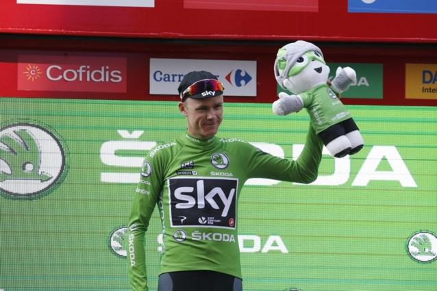 Dáárom nam Froome als sprinter nog risico's in slotrit Vuelta en wou hij per se dat groen