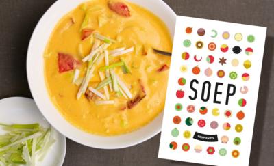 Dit kookboek wil u de herfst door helpen met soeprecepten. Maar zijn ze ook lekker?