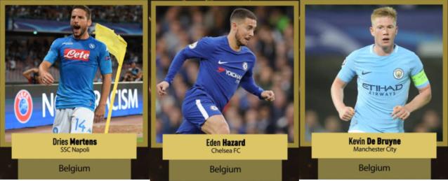 Eden Hazard is is de derde Belgische genomineerde voor de Gouden Bal