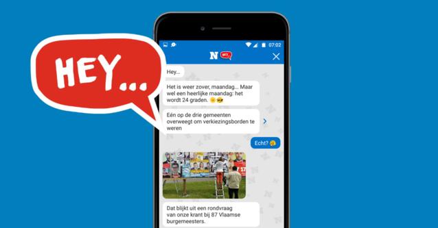HEY... Kies zelf met welk nieuws je wakker wil worden in de app van Het Nieuwsblad