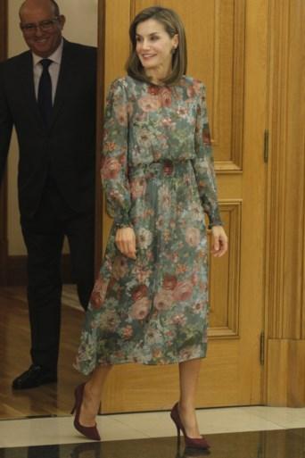 Spaanse koningin stunt met jurkje van bekende modeketen
