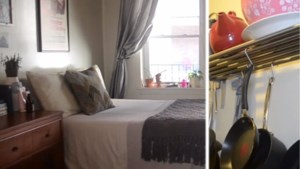 Pannen aan de muur en bed in de living: op bezoek in New Yorkse studio van 1.500 euro per maand