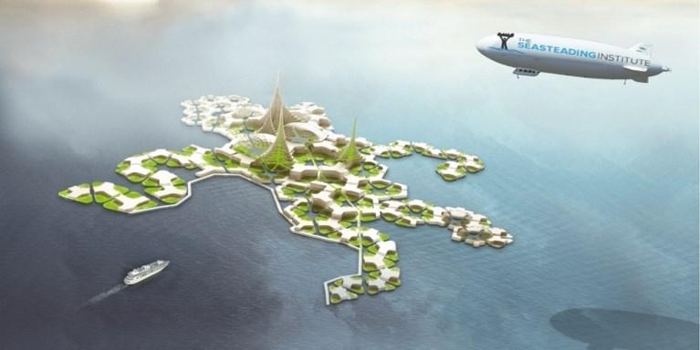 Sneller dan verwacht: in 2020 is de eerste drijvende stad er