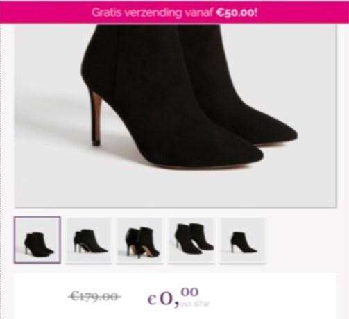 Schoenen voor 0 euro? Te mooi om waar te zijn