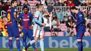 Barcelona laat ondanks goal van Messi verrassend punten liggen in eigen Camp Nou, Vermaelen valt in