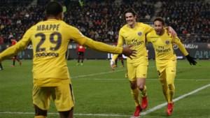 Neymar, Mbappé en Cavani laten geen spaander heel van Rennes