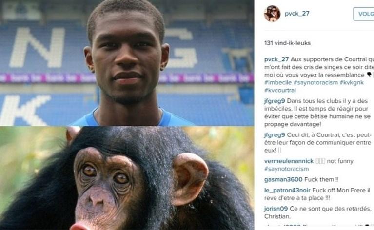 """Standard reageert """"geschokt"""" op racistische uitlatingen, Kortrijk stelt zich ook vragen bij gedrag van speler"""