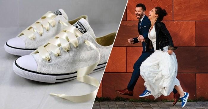 Is Marjolein uit 'Blind Getrouwd' nu écht met blauwe Adidassen getrouwd? Ja, en ze is heus niet de enige
