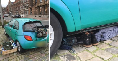 Man overleeft al maanden in zijn auto in drukke Gentse straat. Wij zochten hem op