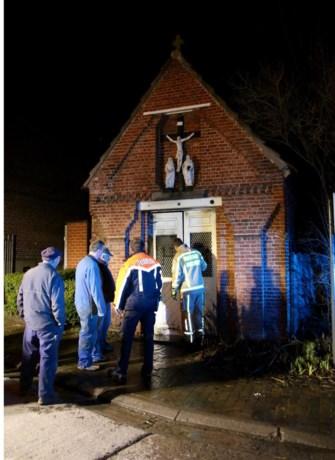 Brand in kapel vermoedelijk aangestoken