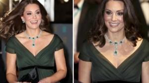 Zwangere Kate straalt op rode loper Bafta's (maar lapt de 'dress code' aan haar laars)