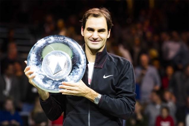 Roger Federer geeft nummer één-positie extra glans met 97e toernooizege in Rotterdam