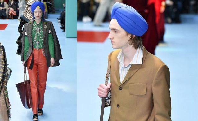 Niet de afgehakte hoofden, maar de tulbanden van Gucci ontketenen relletje