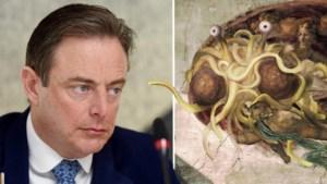 Waarom Bart De Wever plots tweet over het vliegend spaghettimonster