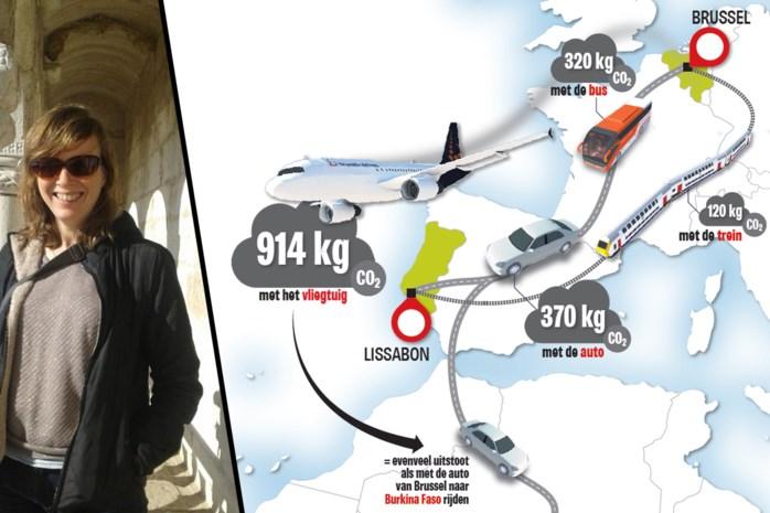 """Zo groot is de CO2-impact van een tripje naar Lissabon: """"Een half jaar inspanningen om duurzaam te leven is gaan vliegen"""""""
