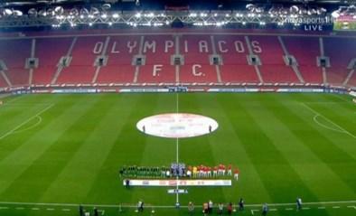 Geen hete standjes tijdens Griekse topper tussen 'eeuwige vijanden'.. door leeg stadion