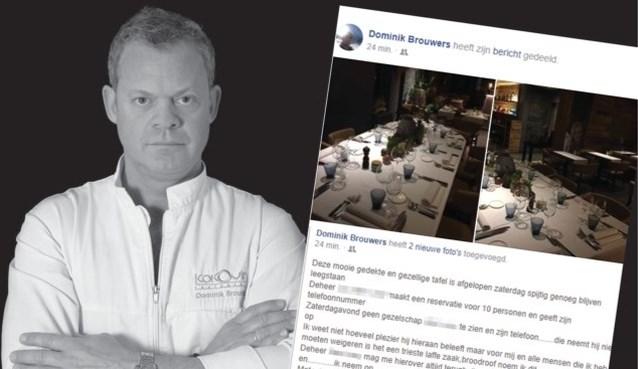 Klant die niet opdaagde en door chef-kok voor heel Vlaanderen te kijk werd gezet, geeft zijn versie van de feiten