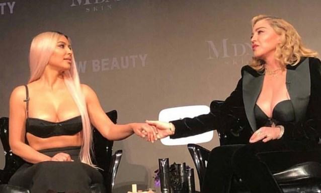 Kim Kardashian gaat samenwerken met Madonna