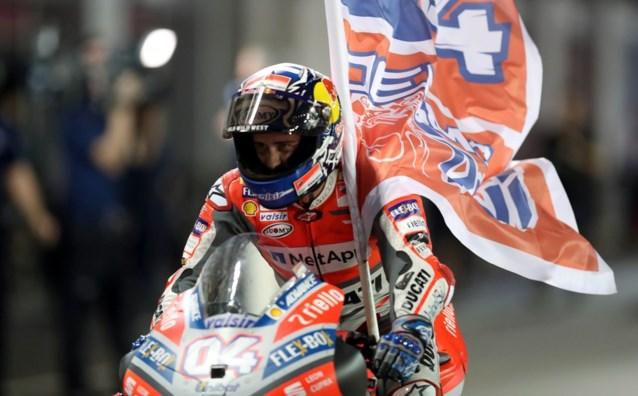 Italiaan Dovizioso wint op Ducati in MotoGP voor titelverdediger Marquez