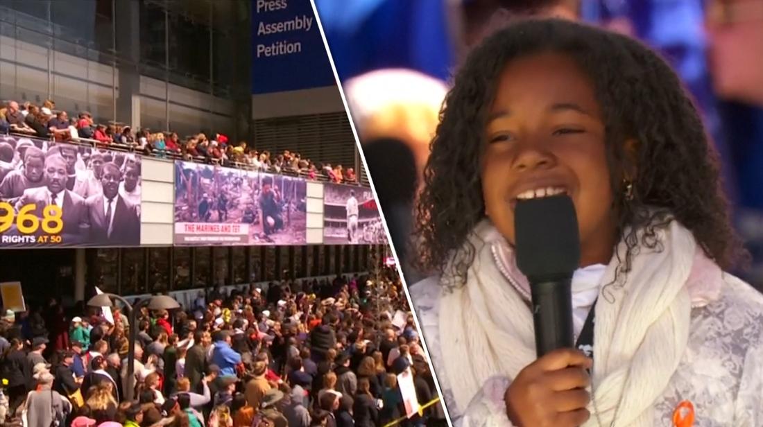 Kleindochter Martin Luther King Spreekt Honderdduizenden Actievoerders Toe Mijn Opa Had Een Droom